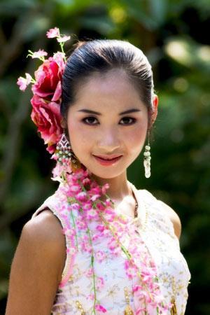 摄西双版纳傣族美女