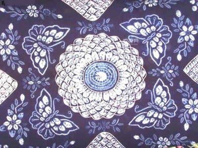扎染布各种折法图案图解