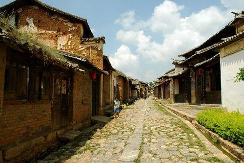 云南保山街道风景图