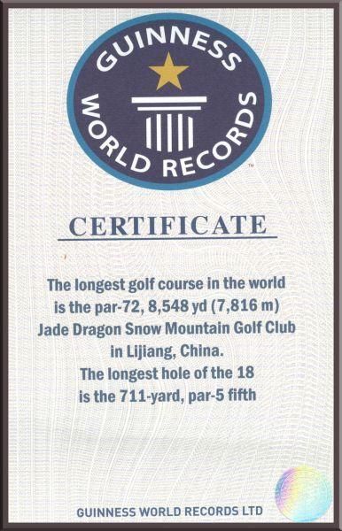 荣获两项吉尼斯世界纪录