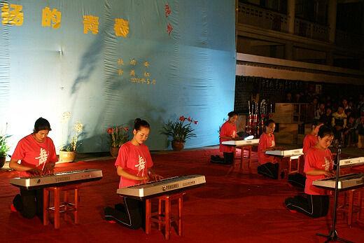 莫扎特风笛舞曲简谱电子琴-龙陵县职中 五月的花海 飞扬的青春 文艺晚
