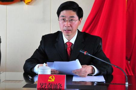 罗朝峰同志主持会议