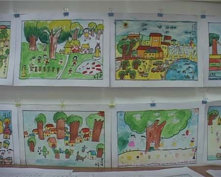充满童真童趣的水彩画