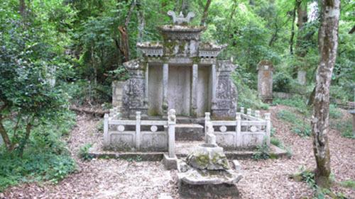 茔墓前所建墓碑为三重檐图片
