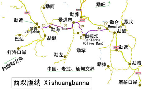 (图10)勐仑植物园在罗梭江与勐仑地区交汇处