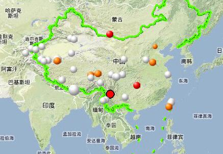 云南省丽江市永胜县今天上午11时发生3.4级地震