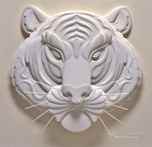 老虎图片木雕浮雕