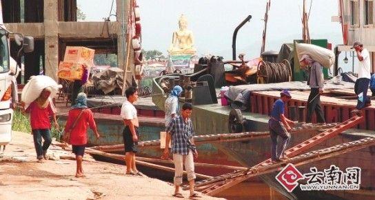 中泰货物因干旱被迫移至金三角水域装卸