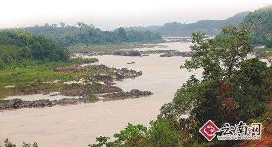 湄公河水域礁石裸露