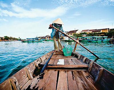 越南四邦河的渔民