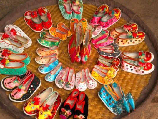 嵩明绣花鞋