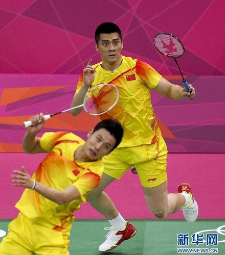 伦敦奥运羽毛球男子双打小组赛:蔡赟傅海峰获