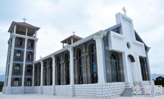 坐落在万亩田园中的法邑基督圣恩大教堂