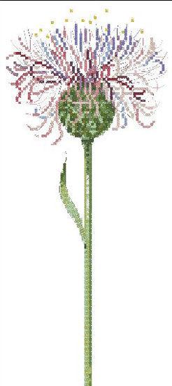 欧式单支花十字绣 装饰客厅背景墙