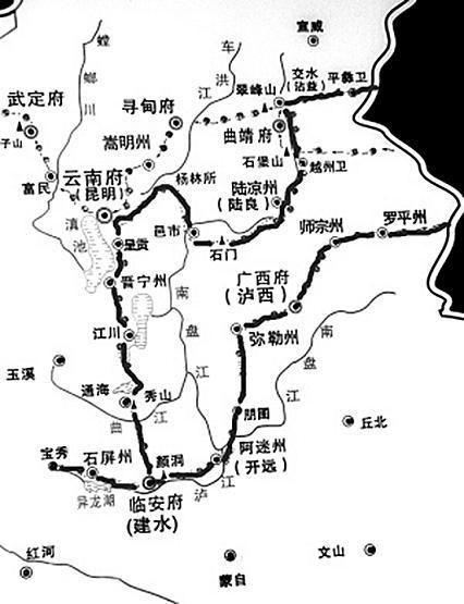 华山风景区旅游路线图