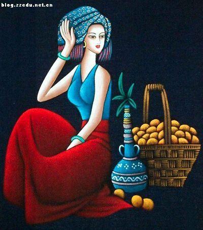 三,蜡染的制作过程:   古老的蜡染工艺在贵州少数民族地区被保存