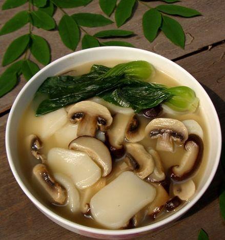 双菇年糕汤