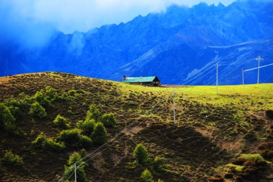 白马雪山上的小木屋(图:潘潘龙的博客)