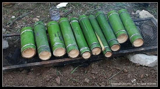 竹筒饭(图片来源:旅行者网)