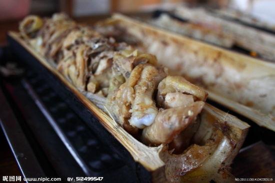 竹筒鸡(图片来源:昵图网)