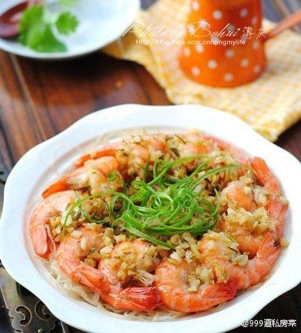 蒜蓉大虾(图片来源:999道私房菜)