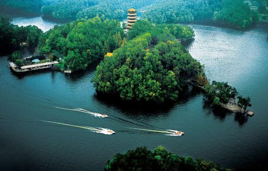 文山君龙湖水利风景区高清图片