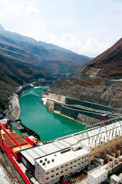 全球民企投资建设最大水电站金安桥发电