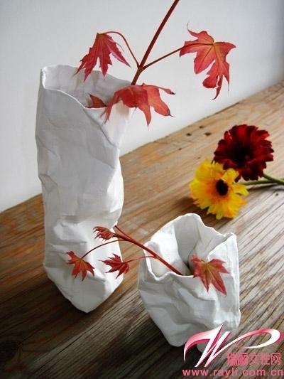 用彩纸做花瓶步骤图片