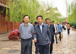 枣庄市文化旅游考察团来丽考察